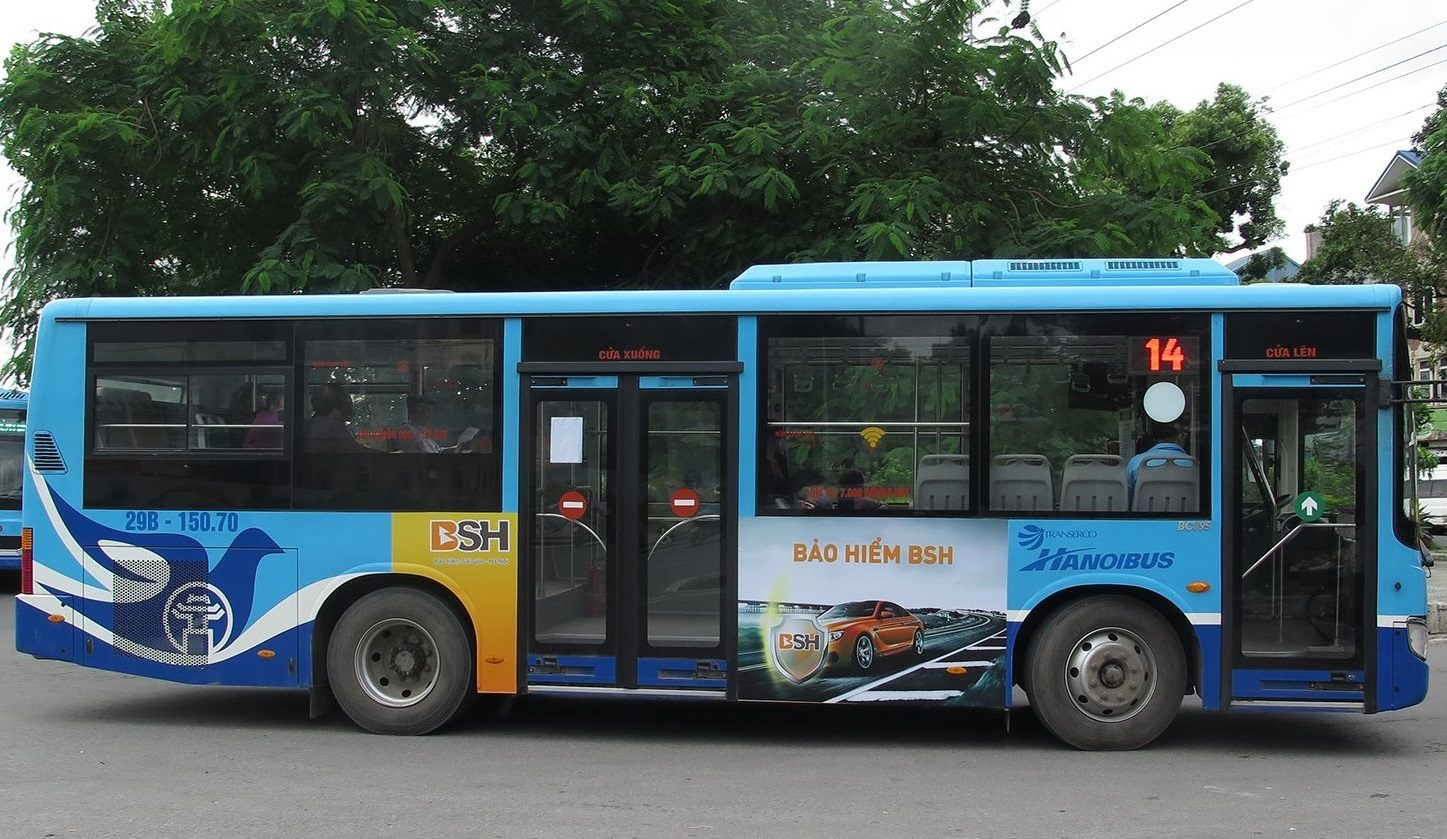 bsh quảng cáo trên xe buýt hà nội