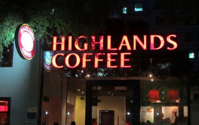 quảng cáo tại quán cà phê