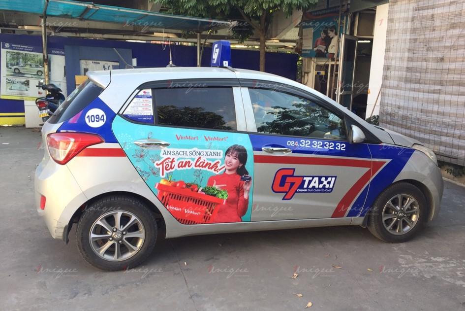 quảng cáo taxi cho vinmart
